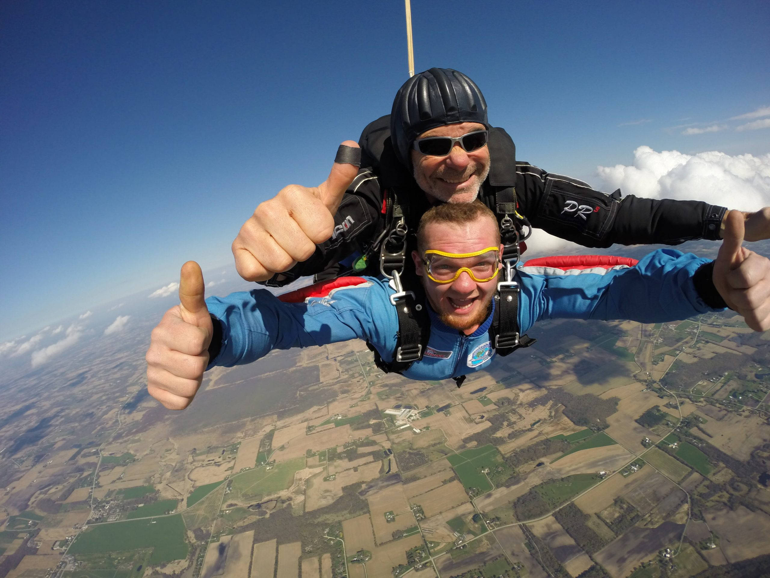 first time skydiving tips tandem skydiving instructor