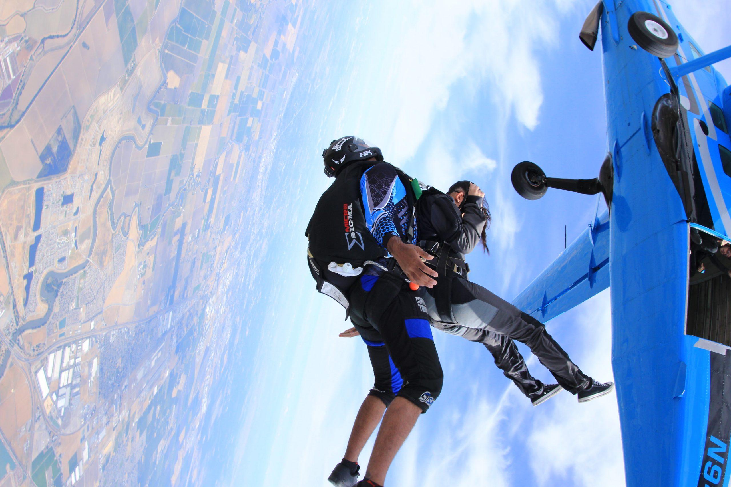 exiting from a Grand Caravan at Skydive California