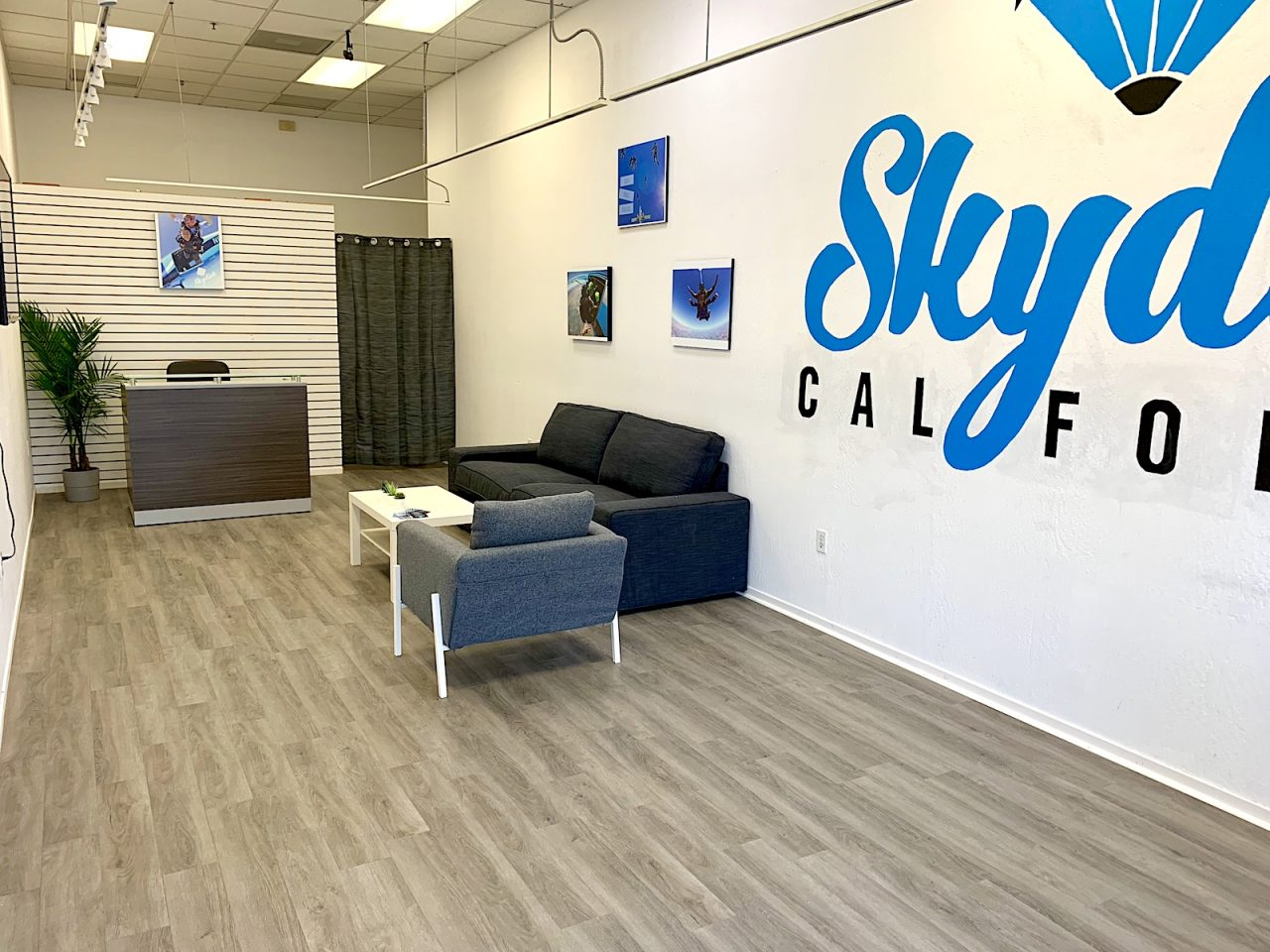 Skydive California interior office