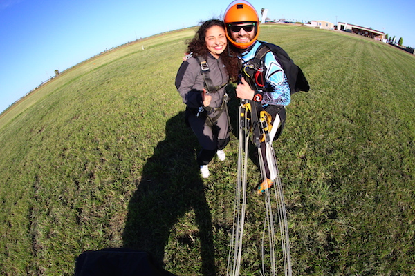 Tandem Skydiving Instructor with Student