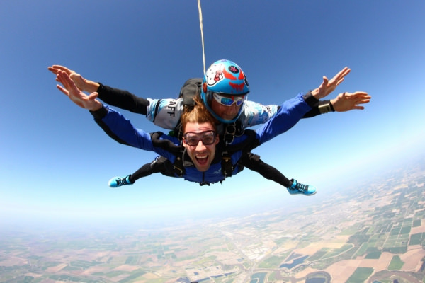 freefall when skydiving time