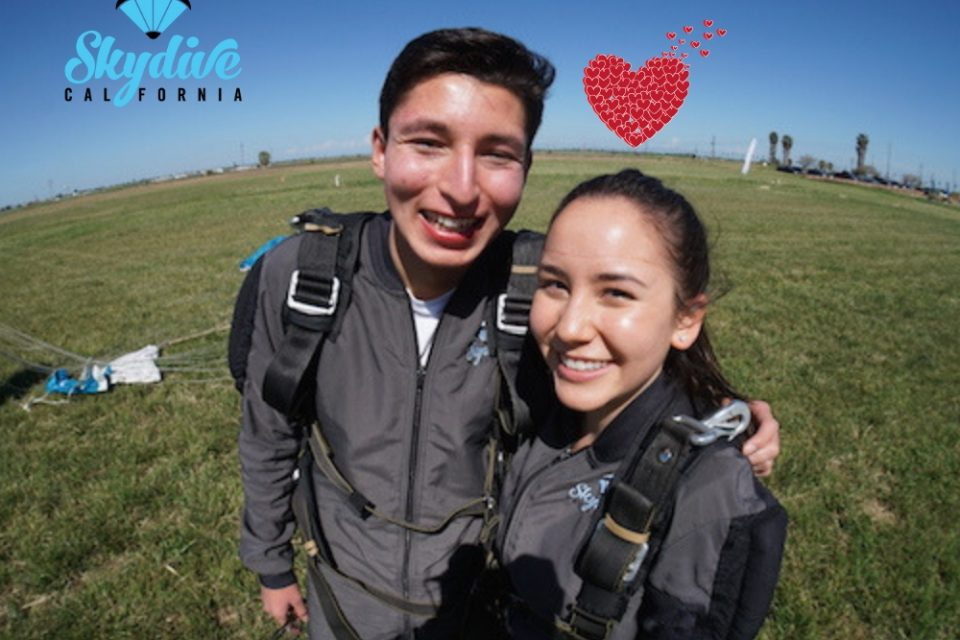 san francisco romantic getaway skydiving skydive california